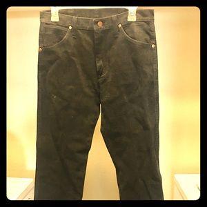Men's Wrangler black boot cut jeans size 30x30